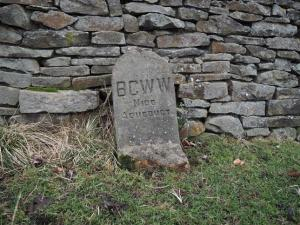 Stone marking the underground route of  Nidd Aqueduct