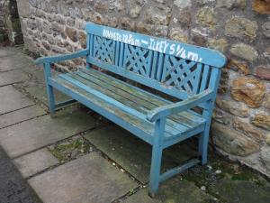 Bench with Dales Way distances written on it