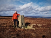 By the Mark Hill trig point