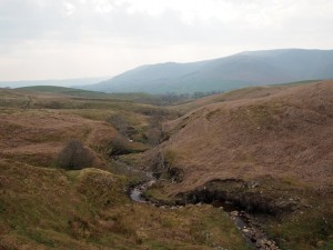 Looking down on Far Gill Laids