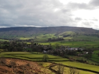 Looking down at Hebden