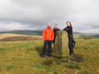With Tony and Sam by the Newton Moor trig point