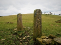 Some old gateposts between Wenningber Hill and Haw Lane