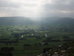 Shafts of light over Hawes