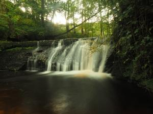 The upper falls in Shaw Gill