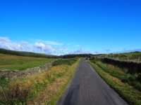 Old Scotch Road with my car parked in a small layby on the right