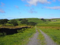 Following the track from Old Scotch Road with High Fell ahead