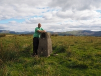 By the High Audland trig point on High Fell