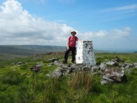 By the trig point on the top of High Greygrits