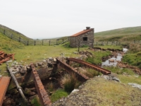 The remains of an old bridge on the Stainmore railway