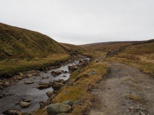 The track following the beck upstream in Great Sled Dale
