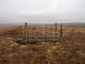 The fence at the summit of Hugh Seat