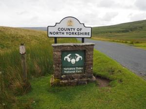 I parked in Cumbria and walked over the boundary into North Yorkshire