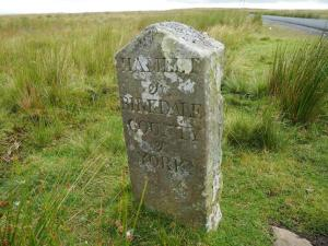 An old boundary stone, possibly Hollow Mill Cross