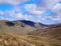 The fantastic view of Castle Knott and Calf Top above Barbondale