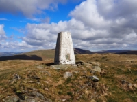The Brownthwaite trig point on Barbon Low Fell
