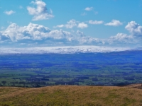There was quite a bit of snow on the Bowland fells to the south