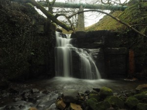 The waterfall just below the ford and bridge