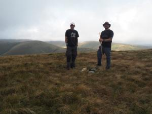 Me and Wally on the top of Hooksey