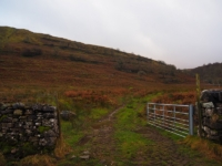 The gate giving access to Bouther Gill