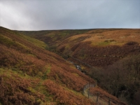 Following the fence back down into Bouther Gill