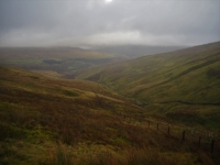 Looking back down at Bouther Gill before I entered the cloud