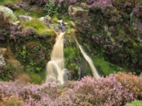 The top of the waterfall in Backstone Beck