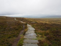 The flagged path leading to the summit of Ilkley Moor