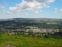 Ilkley with Old Pike and Round Hill in the distance