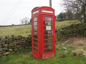 The old phone box in Ilton