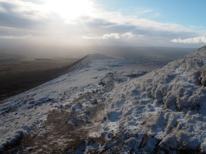 Descending towards Little Ingleborough