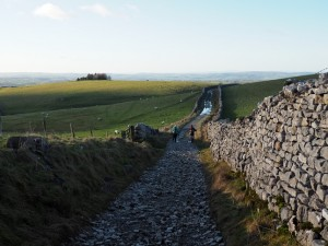 Returning to Ingleton along Fell Lane