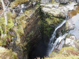 The deep chasm of Gaping Gill