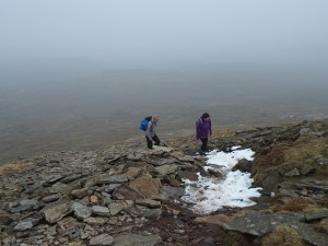 The climb up on to Little Ingleborough