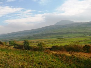 Ingleborough making a cameo appearance