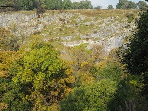 Limestone scar near the end of the walk
