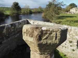 The sundial on Ulshaw Bridge
