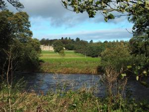 Looking across the river towards Danby Hall