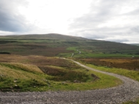 Looking back at Buckden Pike