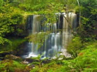 The upper section of the double waterfall in Back Gill