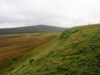 Buckden Pike from the grassy edge I followed from the top of Back Gill