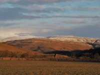 Looking up the valley towards Buckden Pike