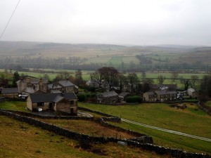 Looking down at Kilnsey