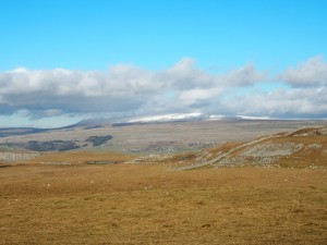 A snow topped Great Whernside