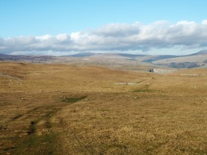 Looking up Wharfedale towards  Buckden Pike