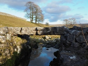 The lovely little slab bridge on the unnamed stream we crossed