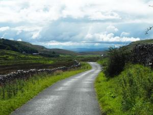 Walking back along the road in Kingsdale