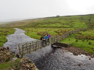 The footbridge over Kingsdale Beck
