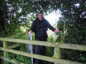 The bizarre gate to a fence with no stile