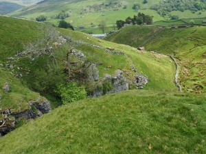 The steep ravine of Aygill